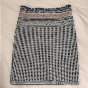 BCBG tribal print skirt size M